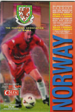 WALES v NORWAY 2000 WORLD CUP QUALIFIER  FOOTBALL PROGRAMME