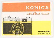 Konica Auto S2 Instructions