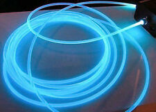 50m 5mm side-glow light clear soft plastic optic fiber cable for light decors