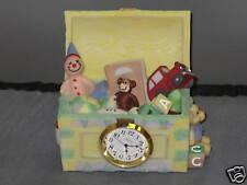 Polystone Toy Chest Clock Clown Monkey Teddy Bear Car