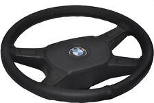 Se adapta a 82-91 Bmw E30 Real Negro Cuero Italiano cubierta del volante de calidad superior