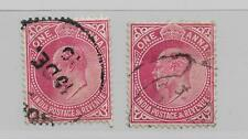 INDIA KING EDWARD VII TWO 1 anna RED USED  REF 79