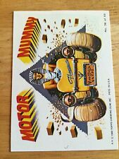 1980 TOPPS WEIRD WHEELS STICKER MOTOR MUMMY 36 SPHINX THE PYRAMIDS DUNE BUGGY US