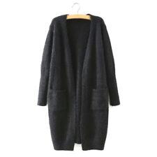 Women Long Sleeve Knitted Cardigan Loose Sweater Long Jacket Coat Tops OutwearIO