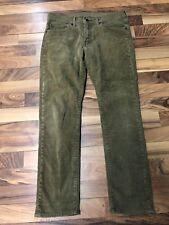 LEVI'S 511 Corduroy Pants Men's 32 X 32 Slim Skinny Fit Brown GUC Free Shipping