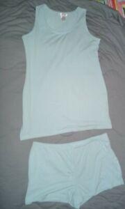 Women's 2 Piece Pajama Set  Gilligan O'Malley top size large bottom size x large
