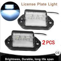 2x 3 LED LED NUMBER PLATE REAR TAIL LIGHT VAN TRUCK CARAVAN TRAILER LORRY 12/24V