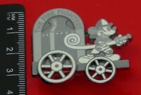 Used Disney Enamel Pin Badge Mickey Mouse Black & White The Fire Fighters Engine