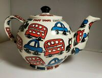 Cardew Designs Teapot London Taxi, Double Decker Bus and Car Teapot - HONK HONK!