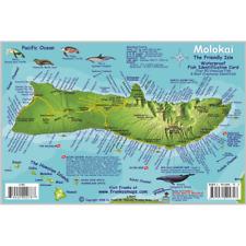 Franko Maps Molokai Hawaii Reef Dive Creature Guide 6 X 9 Inch