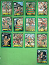 #D411.  1978 SOUTH SYDNEY RABBITOHS SCANLENS RUGBY LEAGUE CARDS, ALL 13 CARDS