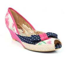 Poetic Licence Wedge Peep Toes Textile Heels for Women