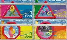 ISRAEL 1998 BEZEQ STOP THE KILLINGS ON THE ROAD SET OF 4 PHONECARDS 20 UNITS