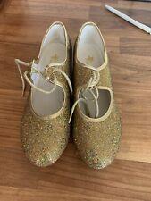 Chicas Grifo Brillo del oro tamaño del zapato 3.5 Excelente Estado