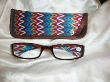 Reading Glasses-Brown Zig Zag  2.50