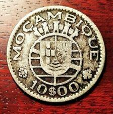 Mozambique 10 escudos 1952 coin (SILVER!)