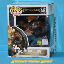 """Funko Pop Balrog Glow # 448 Lord of The Rings NYCC 2017 6"""""""