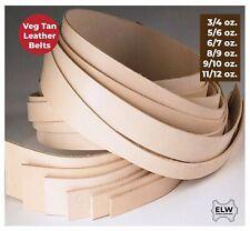Veg Tan Tooling Cow Leather Belt Blank Strip Strap 3/4 5/6 8/9 9/10 11/12 OZ