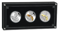 2020 LUNAR SERIES III YEAR OF THE MOUSE 1oz SILVER TRIO $1 3-coin Set 3oz-total