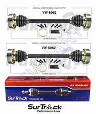 For VW Vanagon RWD 80-82 Pair of Rear CV Axle Shafts SurTrack Set Std.Trans.