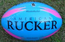 Rookie Rucker Rugby Ball - Blue Night Glow Rugby Ball - Soft Touch - Size 3 Ball