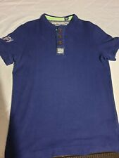 Superdry Short Sleeve Chariot Crew Top In Blue Size Medium