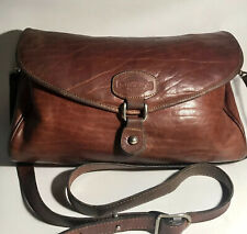 Vintage Oroton Australia Handcrafted Cowhide Brown Leather Crossbody Bag Purses