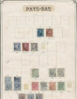 netherlands early stamps page  ref 10724
