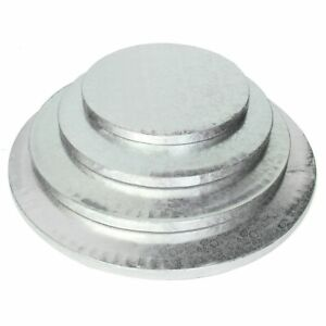"""Cake Drum Silver Boards 12mm - Strong Base 8"""", 9"""", 10"""", 12"""", 14"""", 16"""", 12x9 inch"""