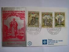 BUSTA PRIMO GIORNO FDC SMOM NATALE 1973 - 3 DICEMBRE 1973 (M14-3-22)