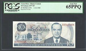 Costa Rica 10 Colones 2-10-1985 P237b Uncirculated Graded 65