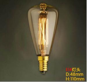 Vintage Bulb E14 40W Decorative Edison ST48 Bulb Lamp Amber Light UK Stock