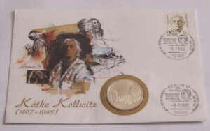 Numisbrief mit 10 DM SILBERMÜNZE (625 er SILBER) Käthe Kollwitz + Sonderpostwert