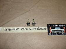 OEM 72 Mercedes 350SL R107 107 WINDSHIELD WIPER NOZZLES SQUIRTER JETS ~ PAIR