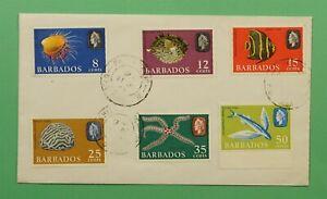 DR WHO 1965 BARBADOS FDC SEA CREATURES C241649
