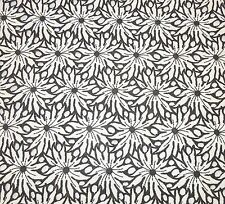 4+ Yds Vintage Fabric~Black & White Flower w Eyelets~Arlans Dept. Store in MA