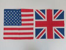 "Union Jack USA Flag Throw Pillow Slipcovers - 16""x16.5"""