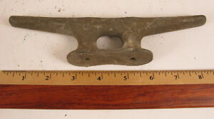 ANTIQUE HEAVY DUTY BOAT SAILBOAT DOCK CLEAT ROPE TIE DOWN DOCKING ONE ONLY !!