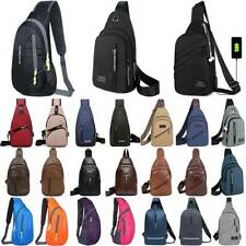 Mens Cross Body Chest Bags One Shoulder Sling Bag Pack Casual Travel Messenger