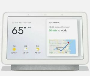 New Google Nest Hub with Google Assistant Chalk. Free shipping.
