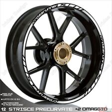 Trims Stickers Sport Wheel Wheel Honda VFR 800 x Crossrunner White Silver