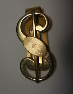 Vintage ANSON Money Clip or Book Mark Gold Plated Accessory
