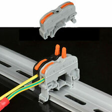 20 x Wiring Terminal Din Rail Wire Connector Push-in Compact Splicing Conductor