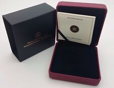 2013 Royal Canadian Mint $100 Gold Coin Anniversary Empty Red Leather Box & COA