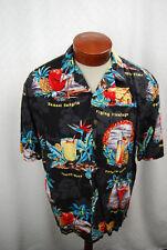 Hilo Hattie Men's Hawaiian Shirt Tropical Hawaiian Cocktails - Large