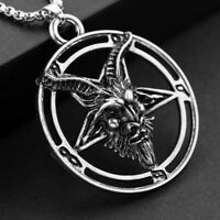 Baphomet Inverted Pentagram Goat Head Women Men Unisex Jewelry Pendant Pentacle