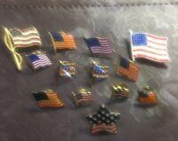 13 Vintage Flag Pins