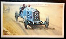 PEUGEOT Racing Car   1913 French Grand Prix Amiens  Picture Card  CAT A