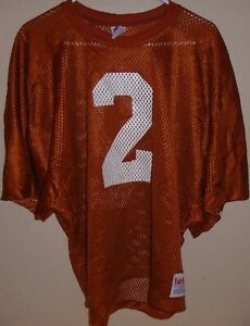 vintage 1980s Texas Longhorns Eric Metcalf game used Fab-Knit practice jersey
