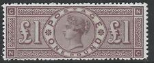 Great Britain (154) 1884 QV £1 brown - a Maryland FORGERY unused